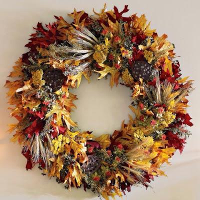fall wreath, leaf wreath, wreaths