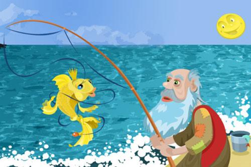 Thơ chế vui Ông lão đánh cá và con cá vàng
