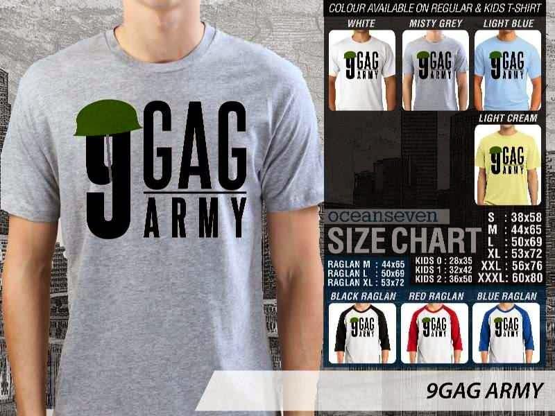 Jual Kaos 9Gag Lucu Meme ARMY distro ocean seven