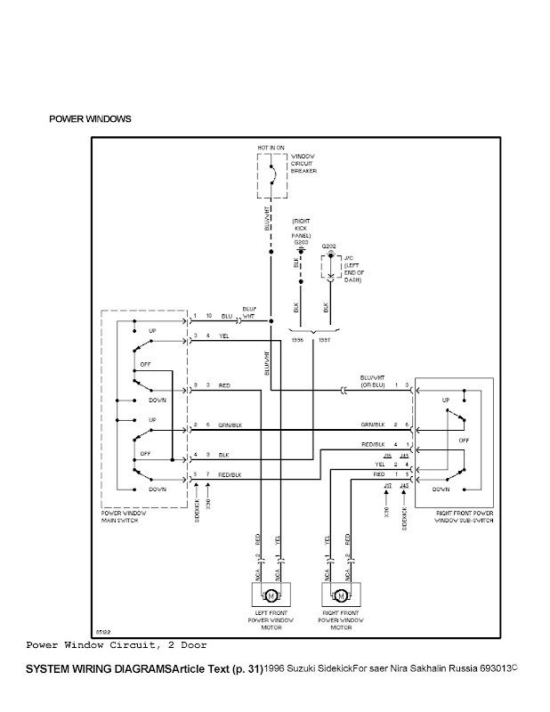 circuito levanta vidrios electricos  como conectar