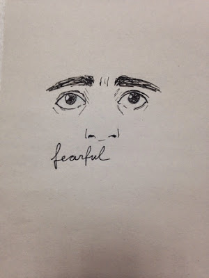 97 Hearts fearful drawing