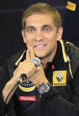 Виталий Петров на пресс-конференции Гран-при Бельгии 2011 в четверг