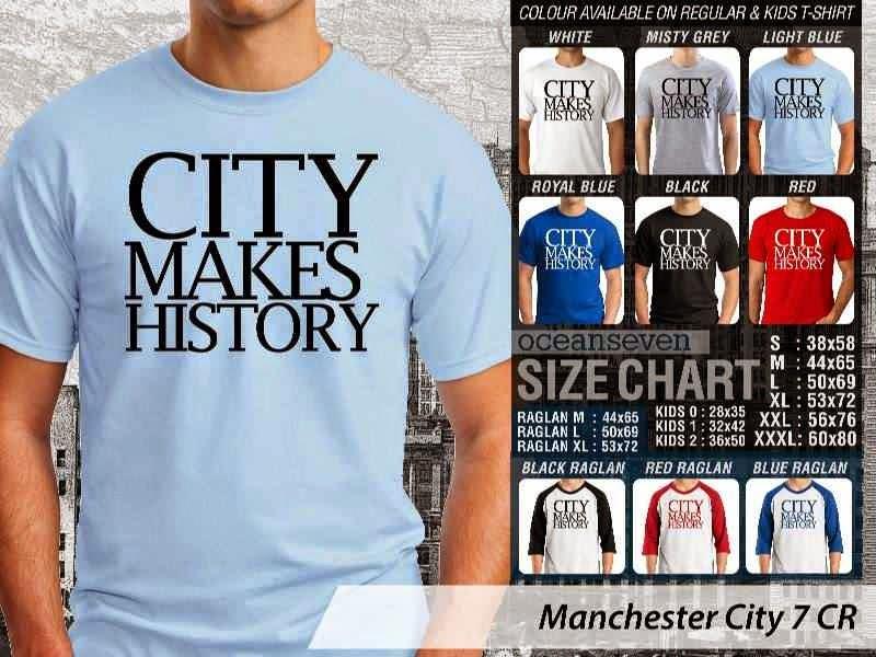 KAOS Man City Manchester City 7 Liga Premier Inggris distro ocean seven