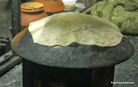 Rumaali roti being cooked