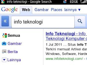 Pencarian Google di Blackberry