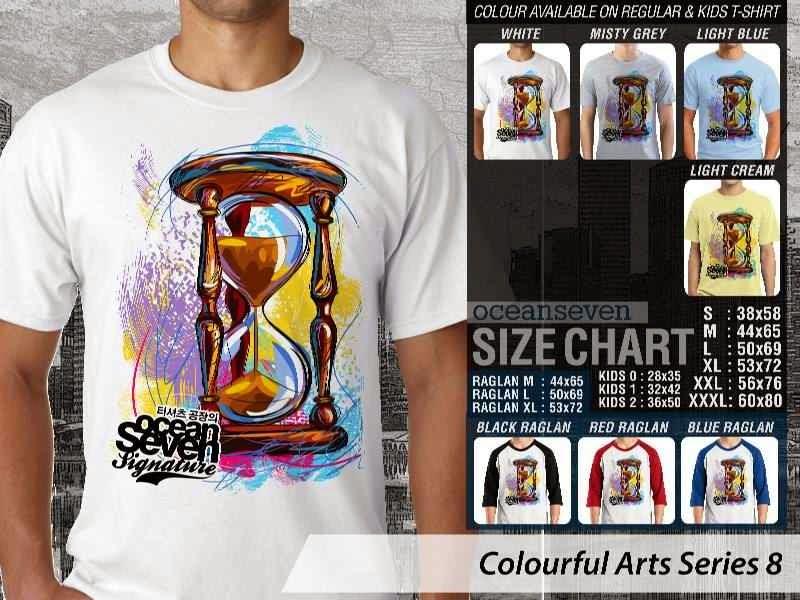 KAOS keren Colourful Arts Series 8 jam pasir Sandglass | KAOS Colourful Arts Series 8 distro ocean seven