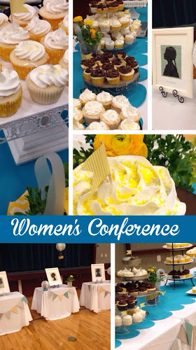 Cupcake dessert table for 200, Womens Conference LDS,