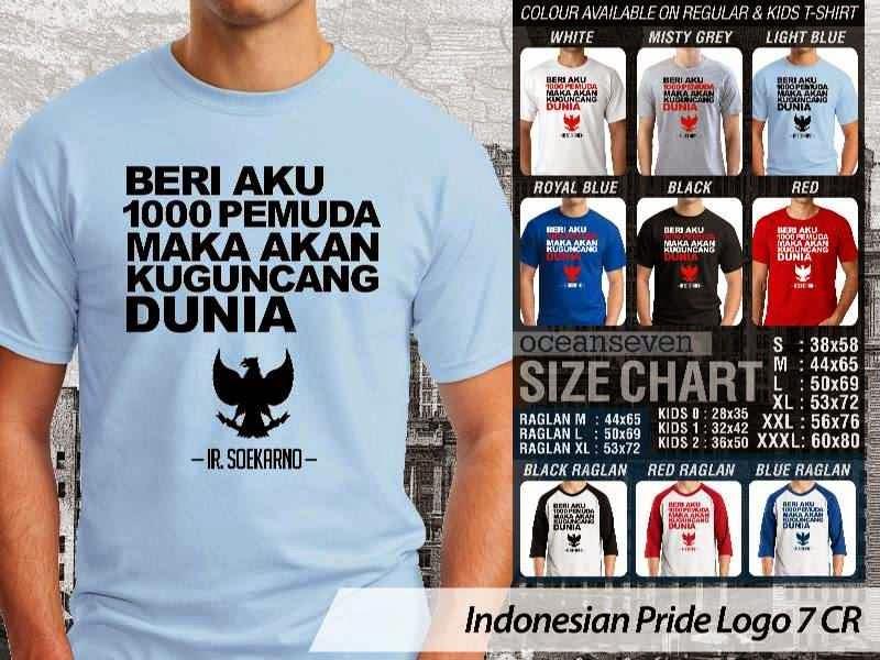 KAOS 1000 Pemuda agan kuguncan DUnia Indonesian Pride Logo 7 distro ocean seven