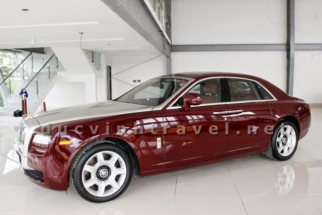 Cho thuê xe siêu VIP Roll Royce đỏ mận cực sang