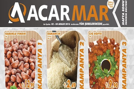 Çankırır Acarmar Marketlerde 02-04 Aralık Hafta Son İndirimleri