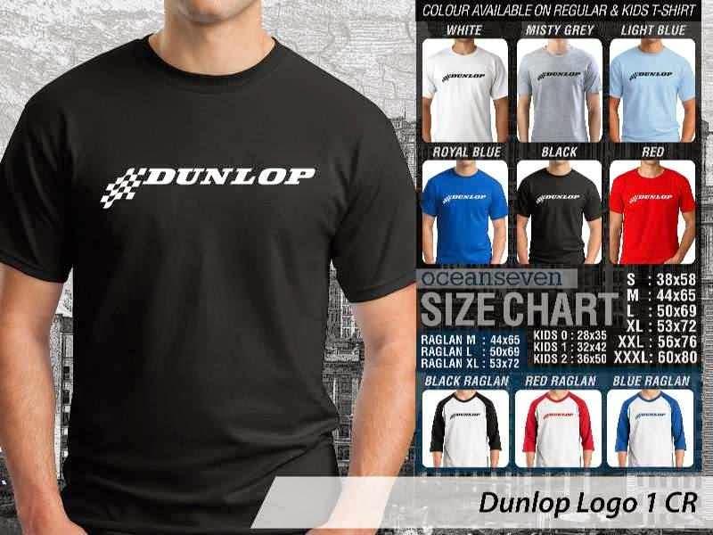 KAOS Dunlop Logo Otomotif distro ocean seven