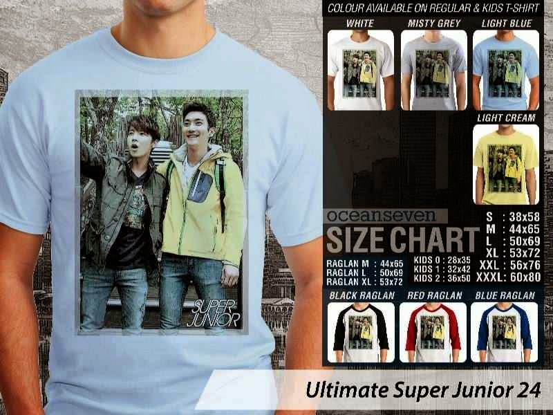Kaos K Pop SUJU Ultimate Super Junior 24 Boy Band Asal Korea distro ocean seven