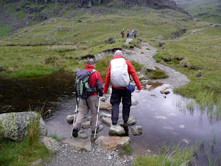 Stepping Stones at Stickle Tarn