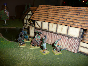 Orc boss prepared to defend his captured farmstead