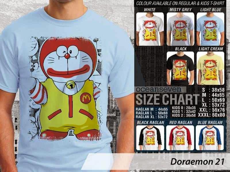 KAOS Doraemon 21 Manga Lucu distro ocean seven