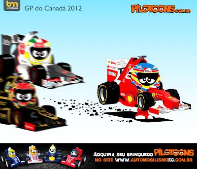 pilotoons Фернандо Алонсо разрушает резину под конец Гран-при Канады 2012