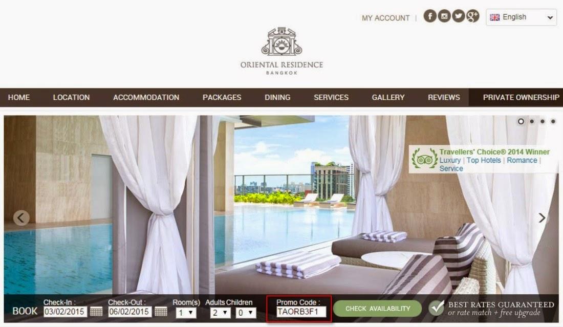 Onyx酒店集團旗下曼谷酒店優惠,曼谷東方公寓低至67折,下年3月前入住。