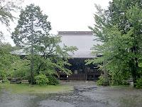 御嶽宿・願興寺(予定変更前のゴール地点)