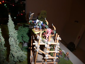 A ghast attempts the shooting platform