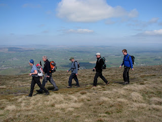 Marching off to Shelter on Pendle Hill