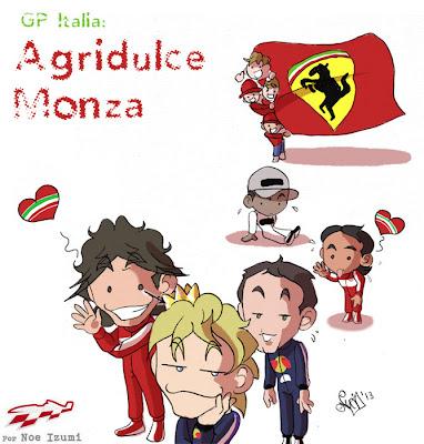 Горьковато-сладкая Монца - чиби-пилоты Noe Izumi по Гран-при Италии 2013