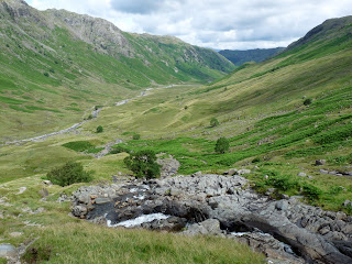 Stake Beck and the Langstrath Valley.