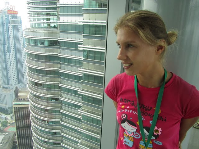 Jordi and Olga in Petronas Towers KL