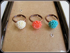 Posie Rings in Copper (in Cream, Coral and Sea Green)