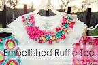 Embellished Ruffle Tee