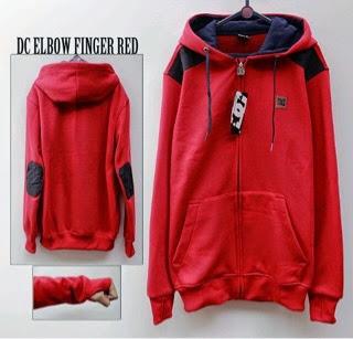 Jaket DC Merah