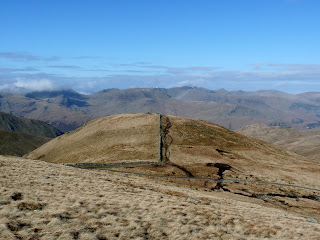 Looking back to the Knott. Fairfield is in the cloud.