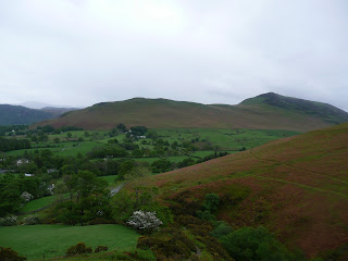 Catbells from the path back to Braithwaite