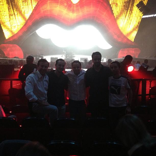 Фелипе Масса на концерте Rolling Stones в Монреале на Гран-при Канады 2013