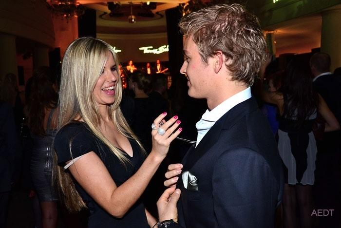 Вивиан Сиболд и Нико Росберг на Thomas Sabo launch party в Goya club 6 декабря 2011 в Берлине
