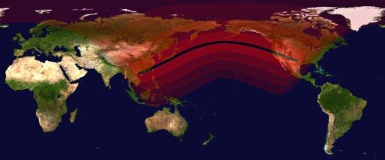 Видимость затмения 21.05.2012