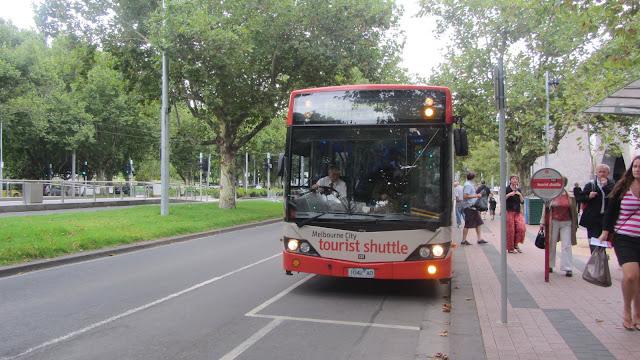 The free Melbourn City Tourist Shuttle.
