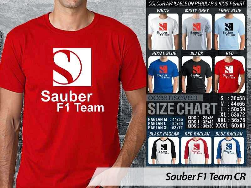KAOS Sauber F1 Logo Otomotif distro ocean seven