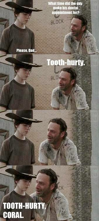 Old, bad jokes + TWD, continued
