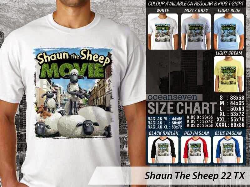 Kaos Movie Shaun The Sheep 22 distro ocean seven