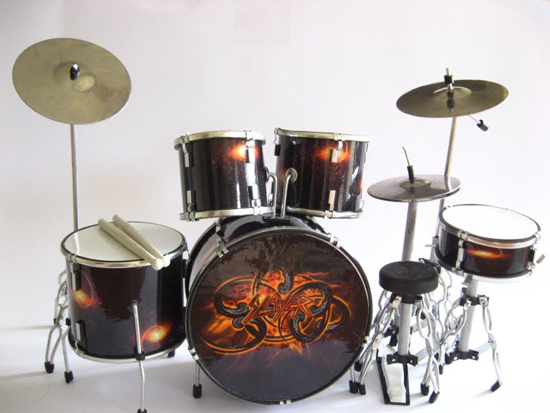 Miniature Drum Set DAVE LOMBARDO PAUL BOSTAPH SLAYER | eBay