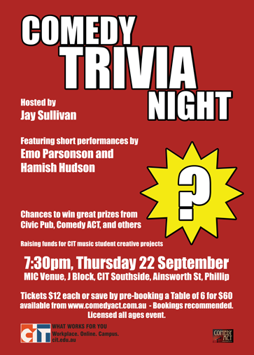 Comedy Trivia Night