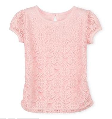 Áo bé gái Lace ren Arizona made in vietnam, màu hồng.
