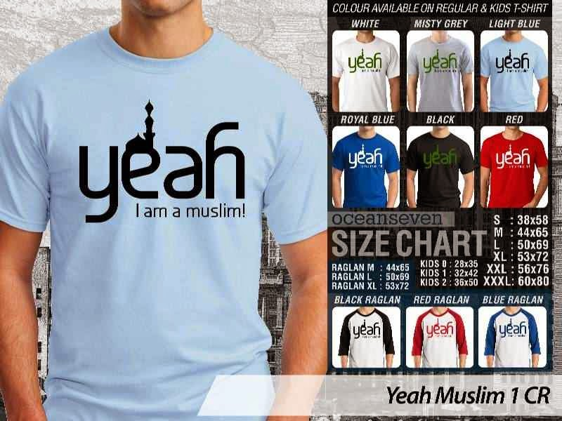 Kaos Islami Yeah Muslim 1 Yeah I am A Muslim distro ocean seven