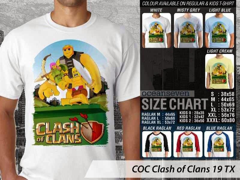 Kaos COC Clash of Clans 19 distro ocean seven