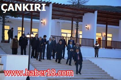 Cenaze töreni nedeni ile ilimize gelen İçişleri Eski Bakanı Sayın