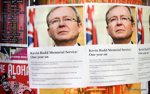 kevin rudd memorial service