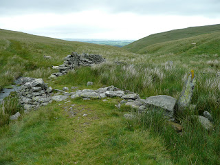 A sheep fold on the way to Bonscale Pike