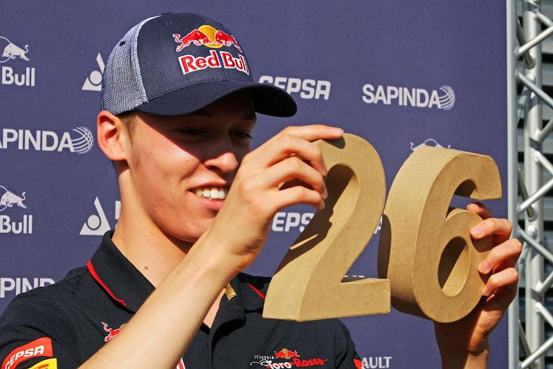 Даниил Квят держит номер 26 на Гран-при Венгрии 2014