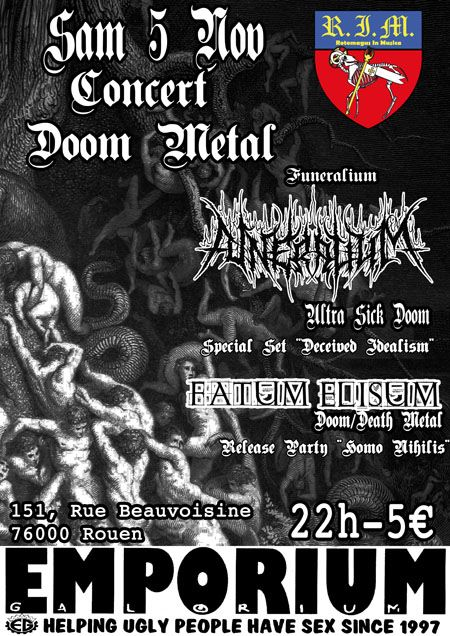 Funeralium / Fatum Elisum @ Emporium Galorium, Rouen 05/11/2011
