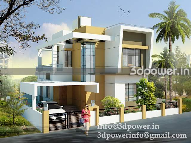 3D view of Individual Bungalow East facing.